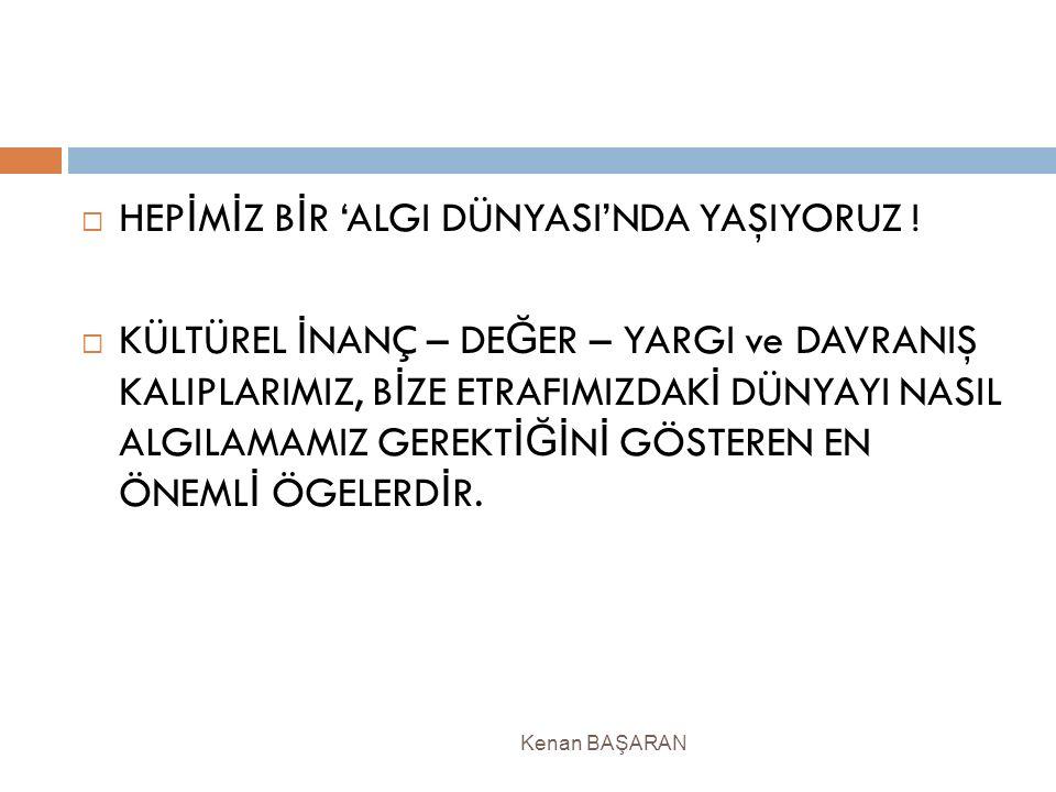 HEPİMİZ BİR 'ALGI DÜNYASI'NDA YAŞIYORUZ !