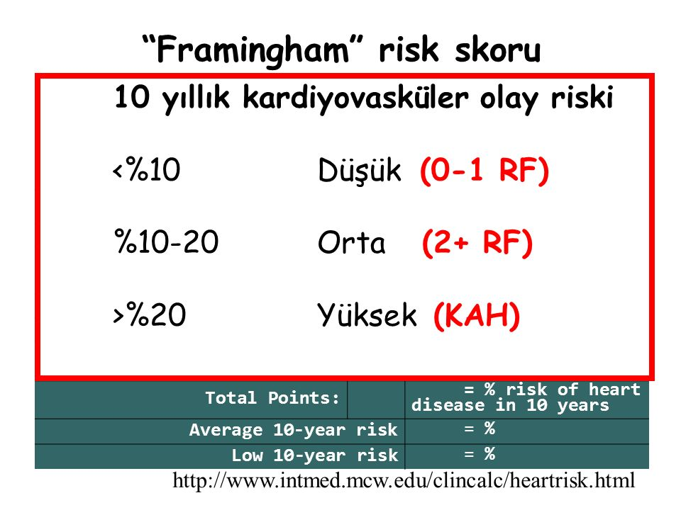 Framingham risk skoru