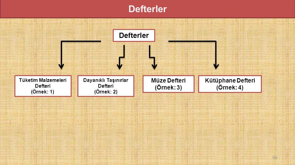 Defterler Defterler Müze Defteri (Örnek: 3) Kütüphane Defteri