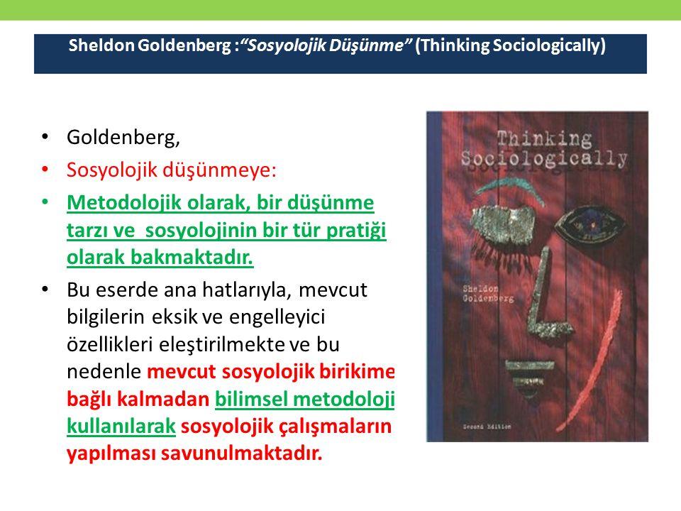 Sheldon Goldenberg : Sosyolojik Düşünme (Thinking Sociologically)
