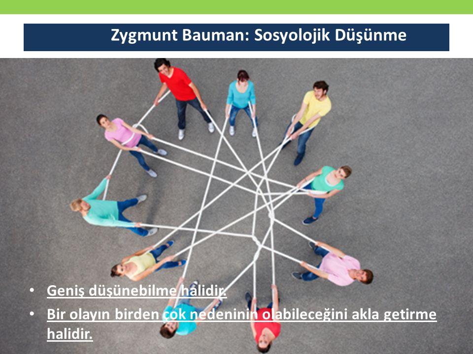 Zygmunt Bauman: Sosyolojik Düşünme