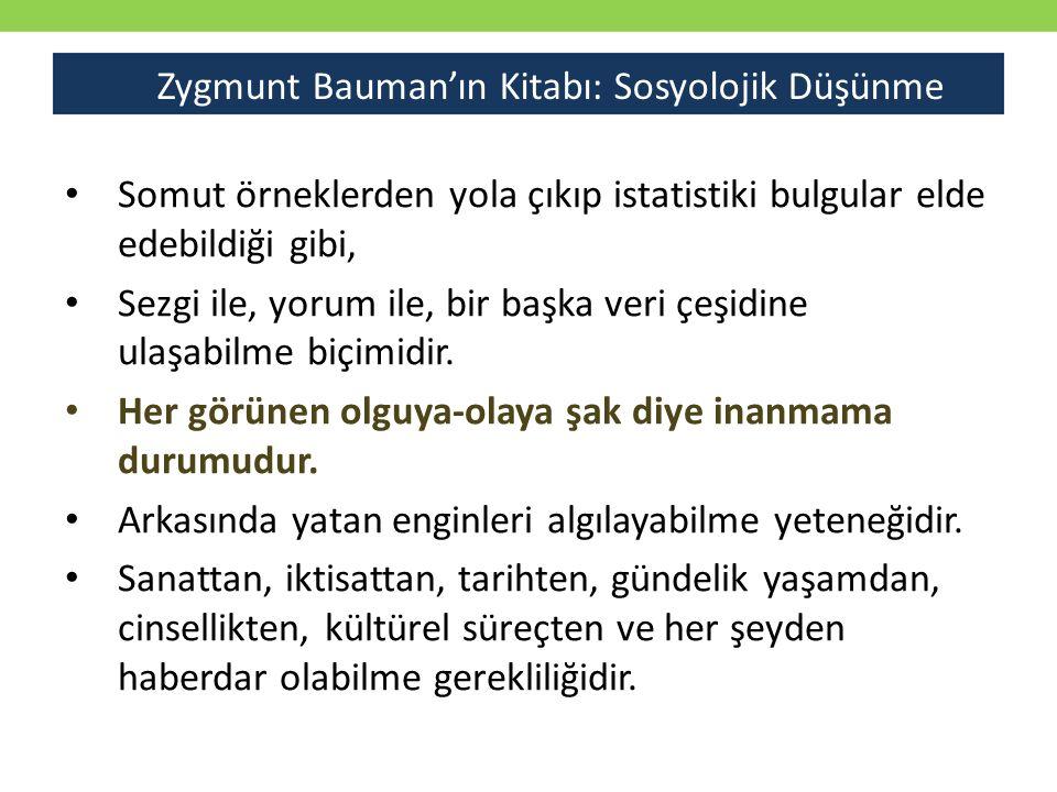 Zygmunt Bauman'ın Kitabı: Sosyolojik Düşünme