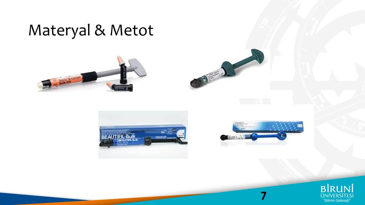 Materyal & Metot