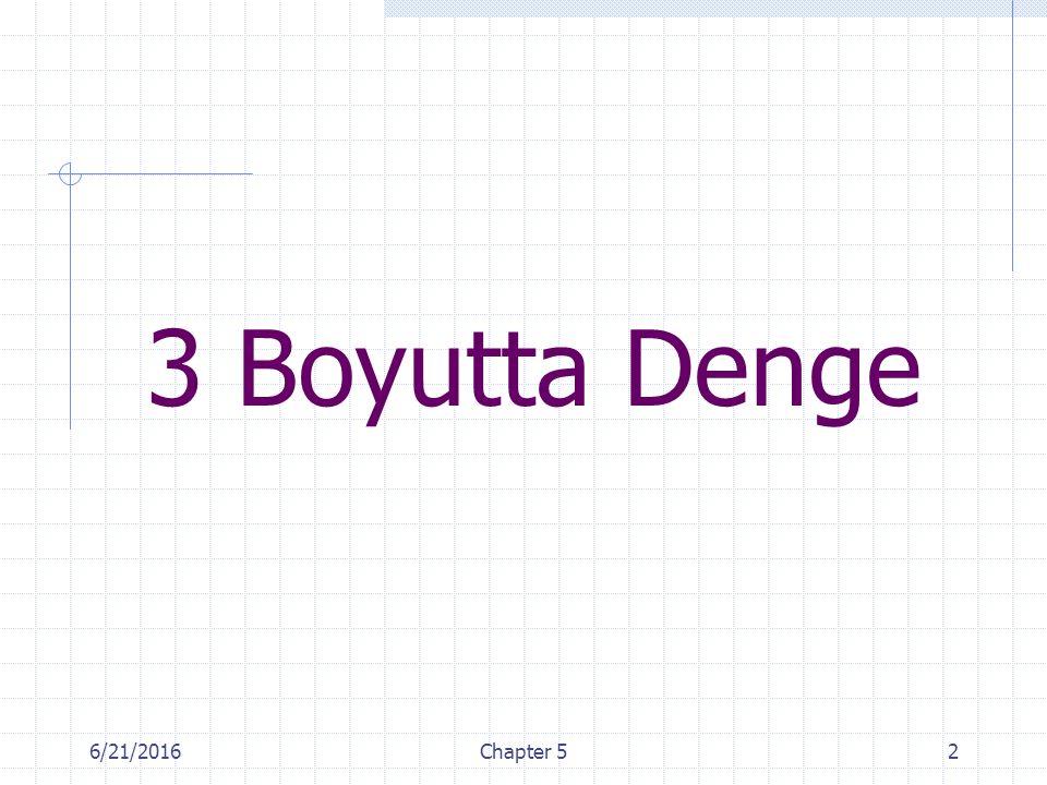 3 Boyutta Denge 4/28/2017 Chapter 5