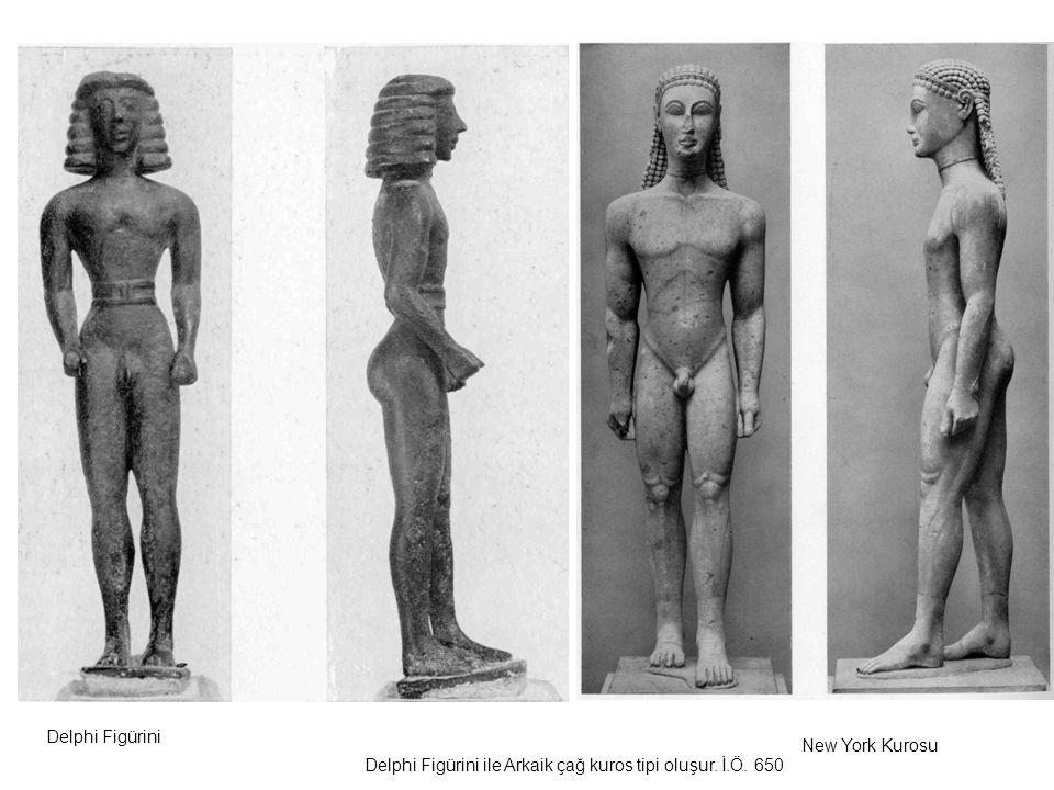 Delphi Figürini New York Kurosu Delphi Figürini ile Arkaik çağ kuros tipi oluşur. İ.Ö. 650