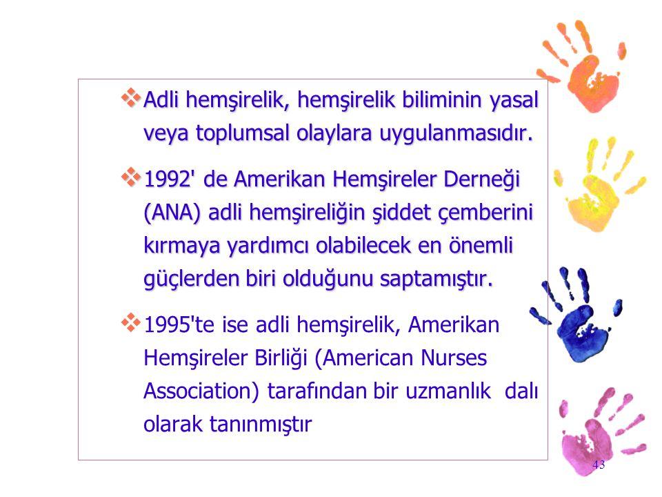 Adli hemşirelik, hemşirelik biliminin yasal veya toplumsal olaylara uygulanmasıdır.