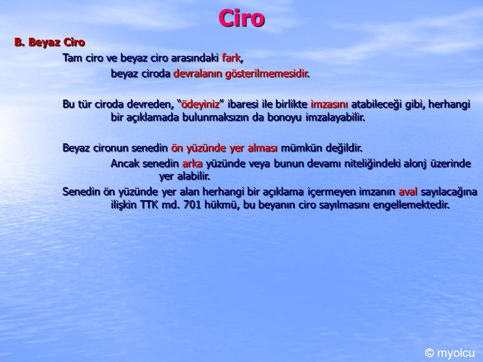 Ciro © myolcu B. Beyaz Ciro Tam ciro ve beyaz ciro arasındaki fark,