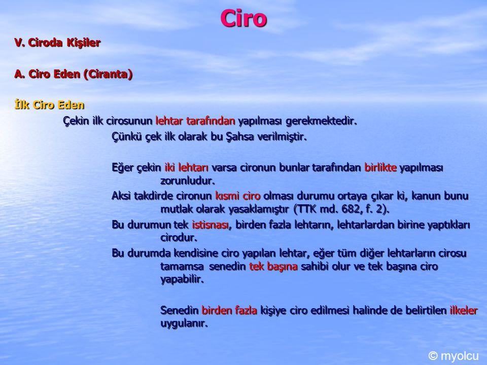 Ciro © myolcu V. Ciroda Kişiler A. Ciro Eden (Ciranta) İlk Ciro Eden