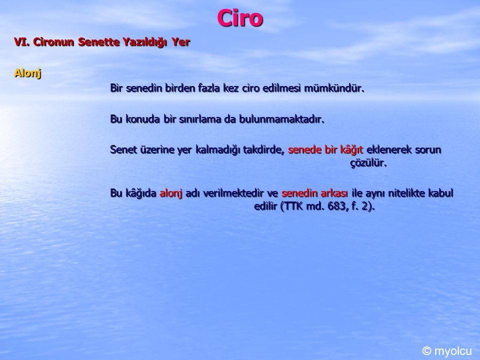 Ciro © myolcu VI. Cironun Senette Yazıldığı Yer Alonj