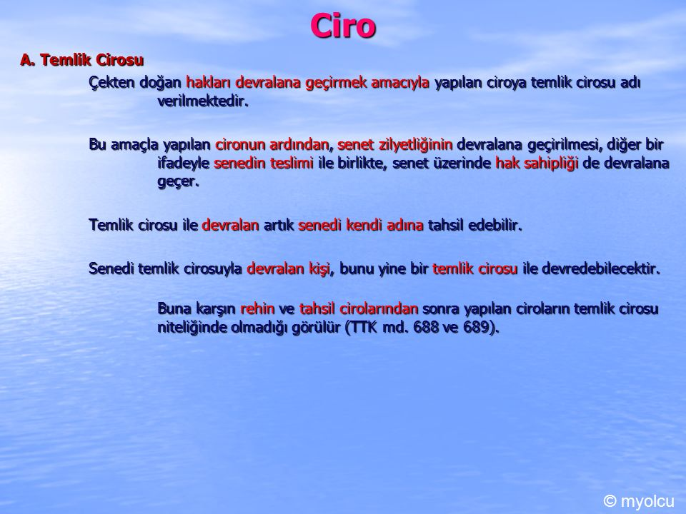 Ciro © myolcu A. Temlik Cirosu