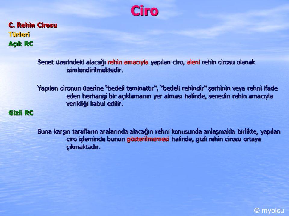 Ciro © myolcu C. Rehin Cirosu Türleri Açık RC
