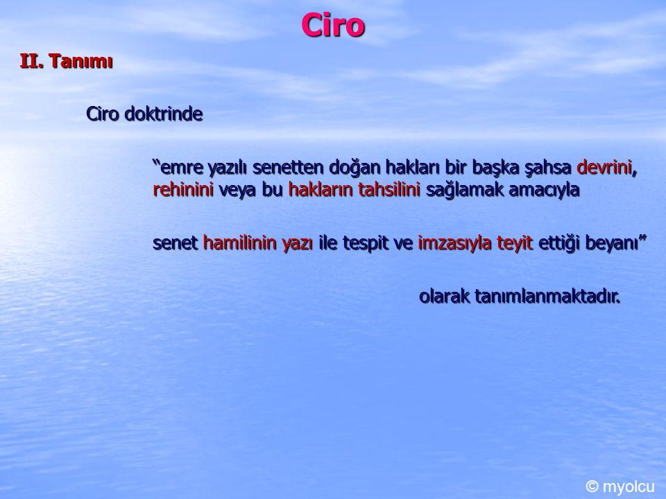 Ciro II. Tanımı Ciro doktrinde