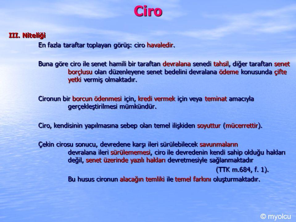 Ciro © myolcu III. Niteliği