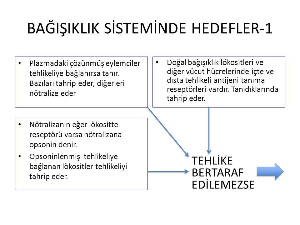 BAĞIŞIKLIK SİSTEMİNDE HEDEFLER-1