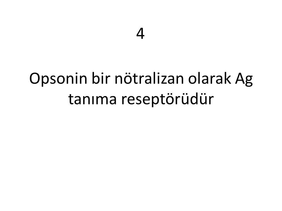 Opsonin bir nötralizan olarak Ag tanıma reseptörüdür