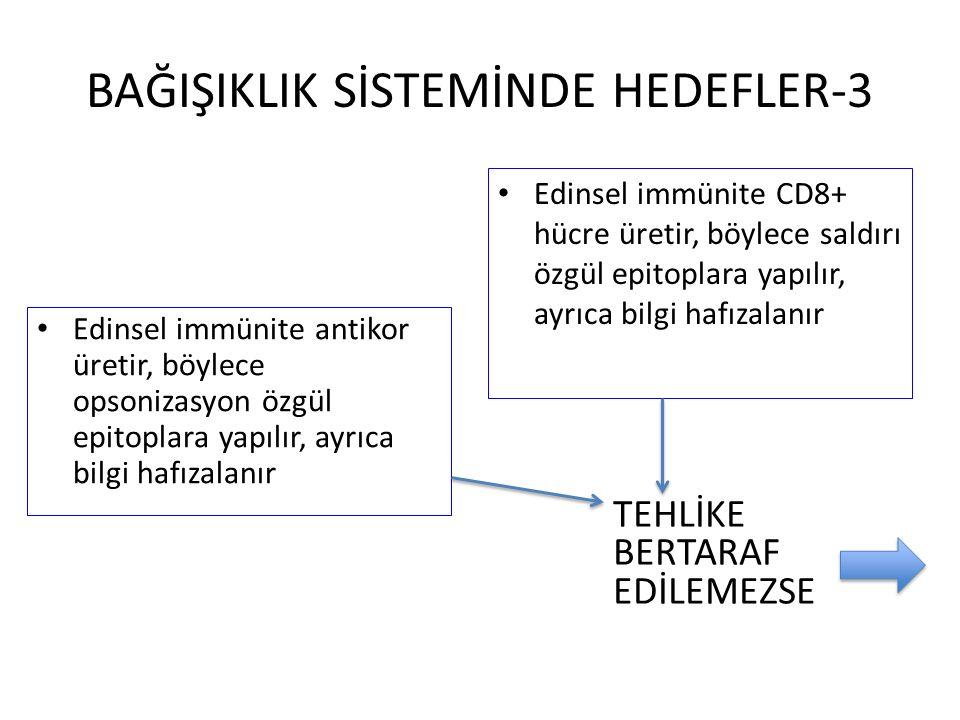 BAĞIŞIKLIK SİSTEMİNDE HEDEFLER-3