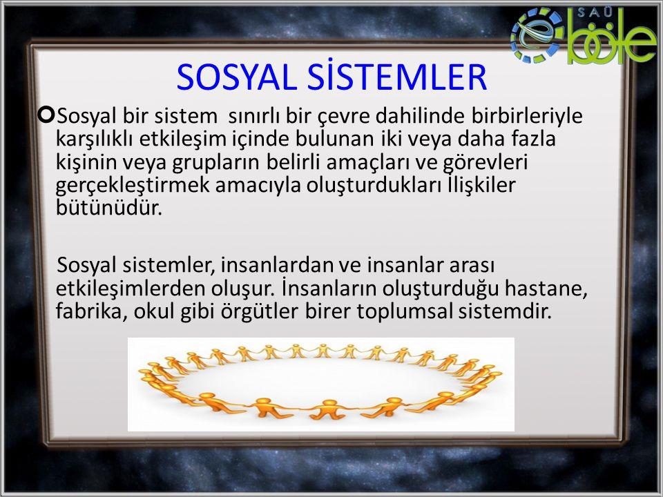 SOSYAL SİSTEMLER