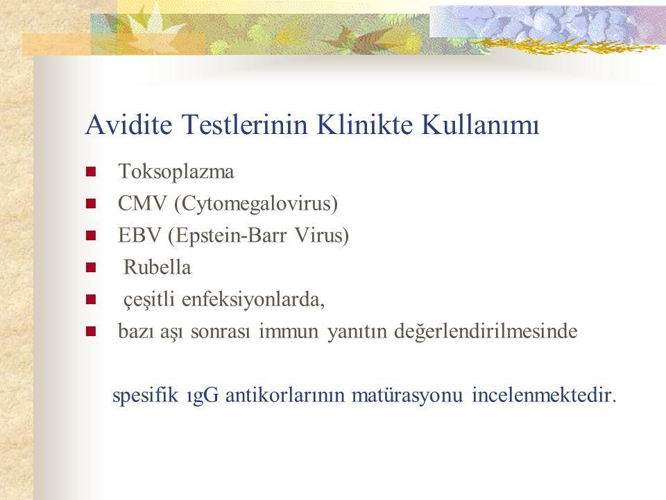 Avidite Testlerinin Klinikte Kullanımı