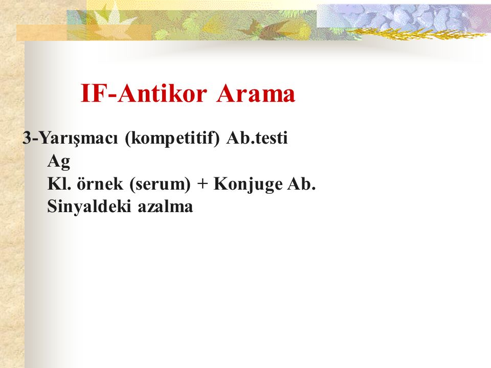 IF-Antikor Arama 3-Yarışmacı (kompetitif) Ab.testi Ag