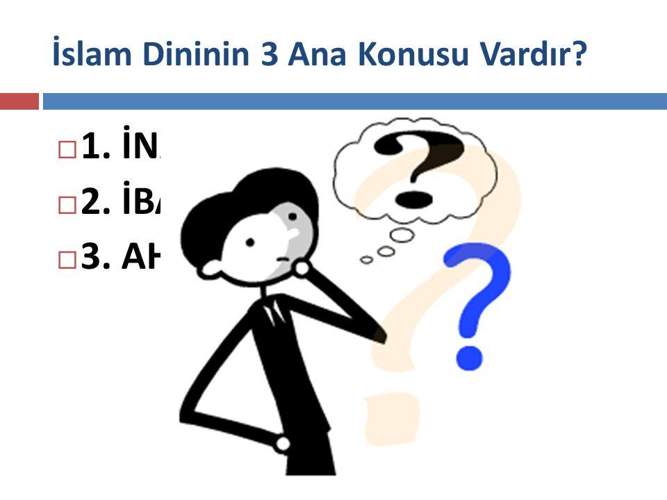 İslam Dininin 3 Ana Konusu Vardır