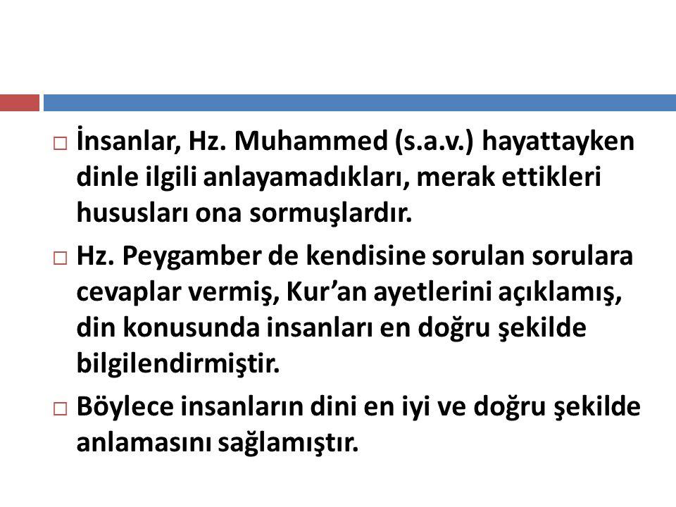 İnsanlar, Hz. Muhammed (s. a. v