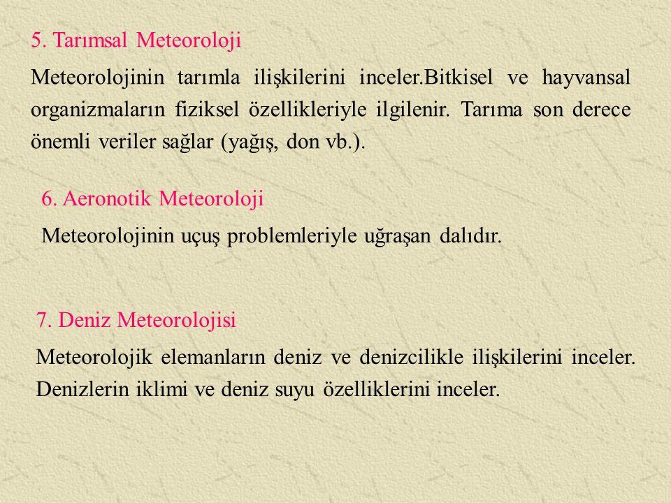 5. Tarımsal Meteoroloji