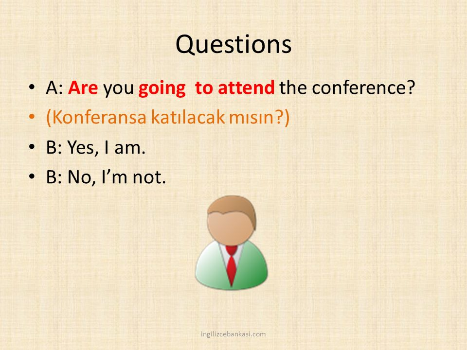 Questions A: Are you going to attend the conference