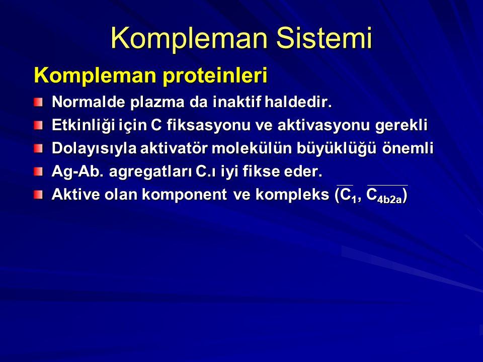 Kompleman Sistemi Kompleman proteinleri