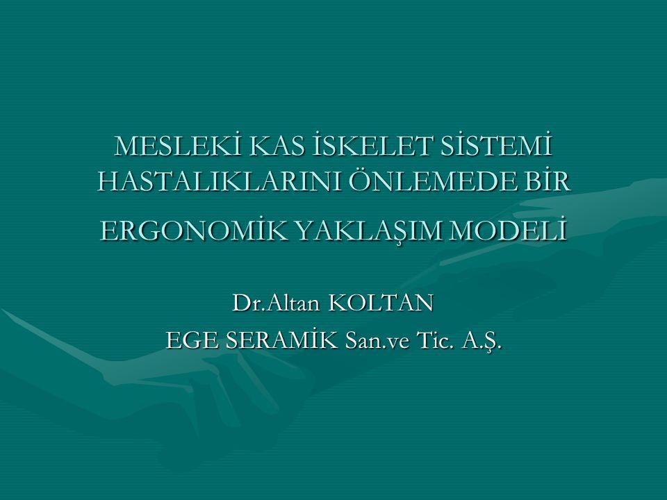 Dr.Altan KOLTAN EGE SERAMİK San.ve Tic. A.Ş.