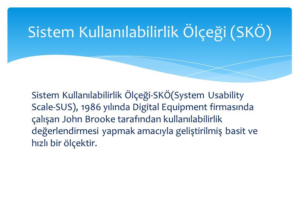Sistem Kullanılabilirlik Ölçeği (SKÖ)