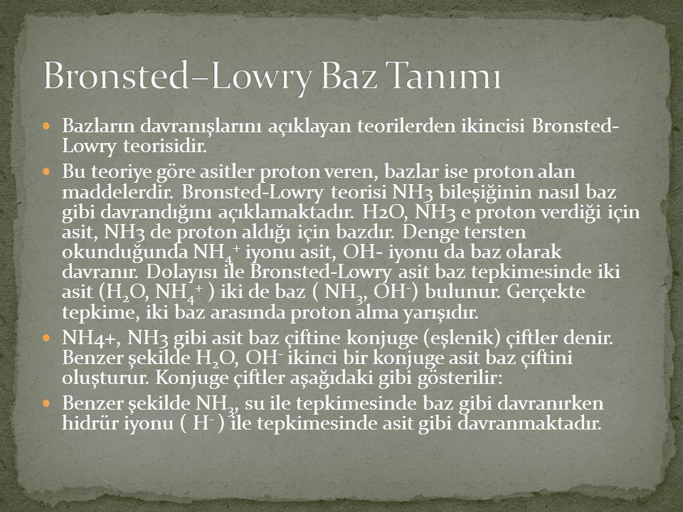 Bronsted–Lowry Baz Tanımı