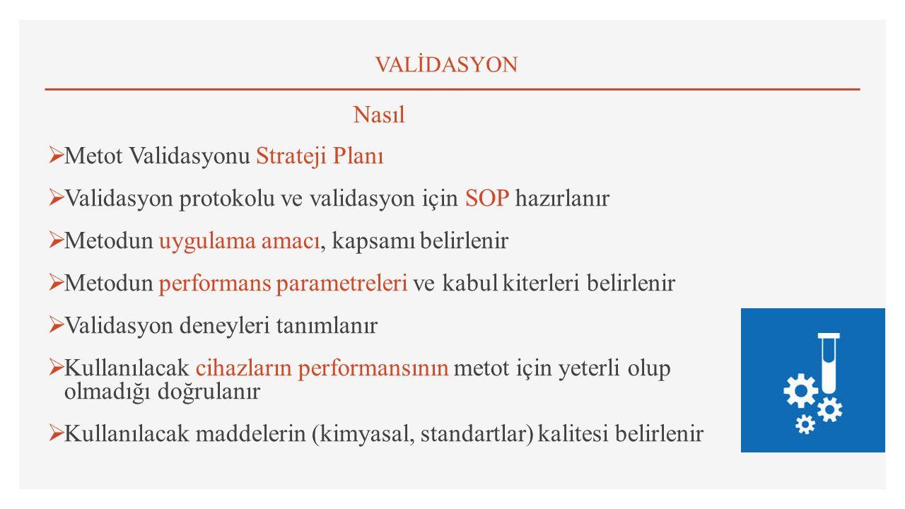 Metot Validasyonu Strateji Planı