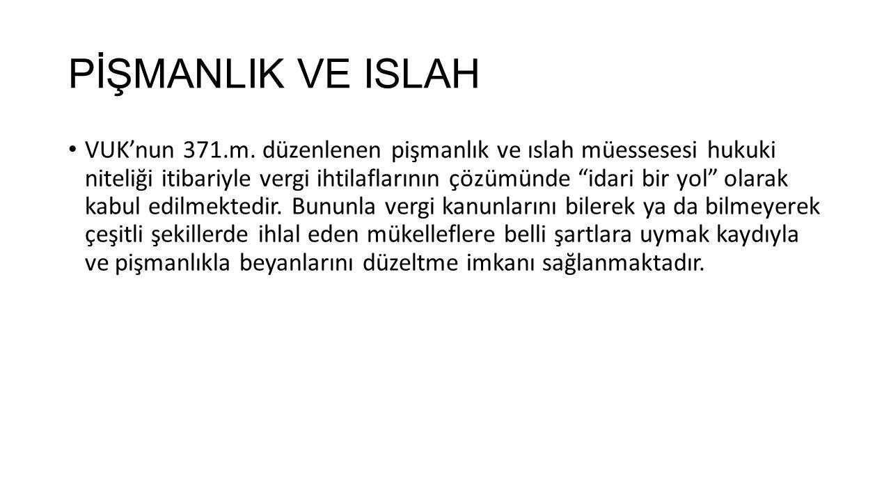 PİŞMANLIK VE ISLAH