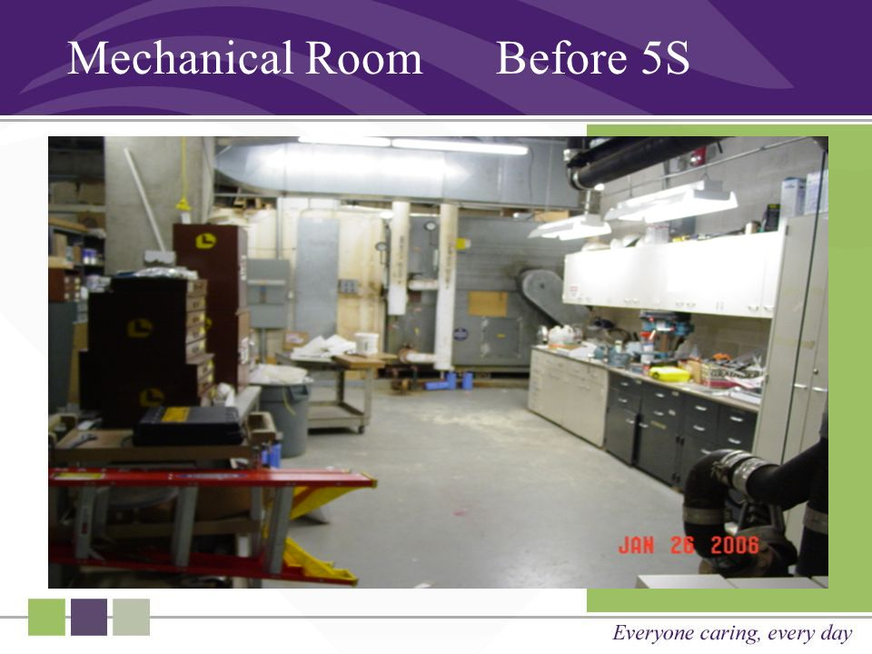 Mechanical Room Before 5S
