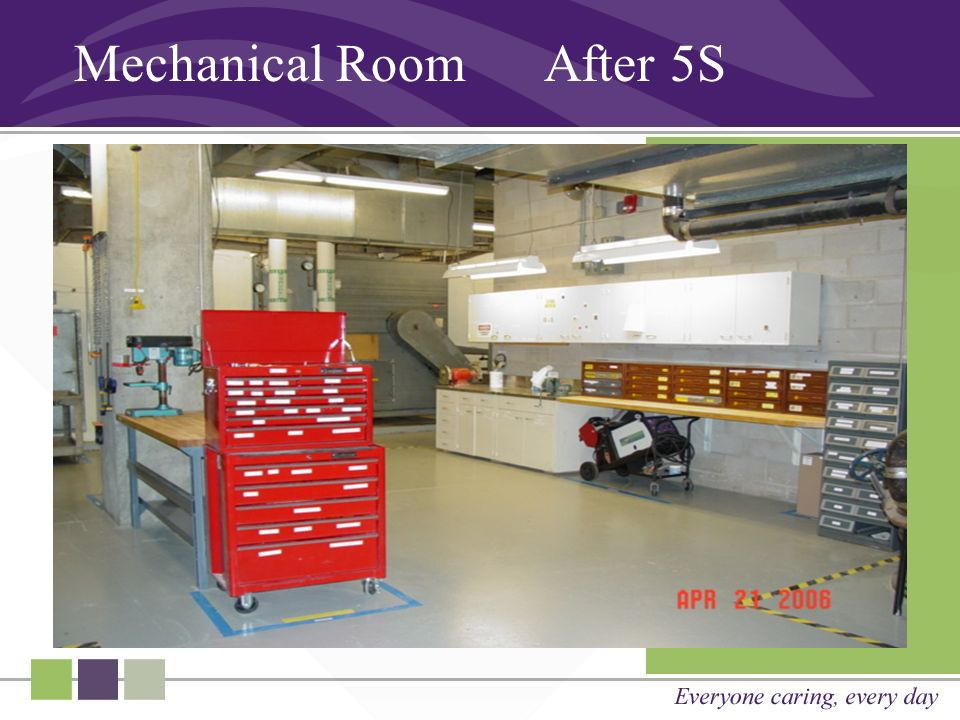 Mechanical Room After 5S