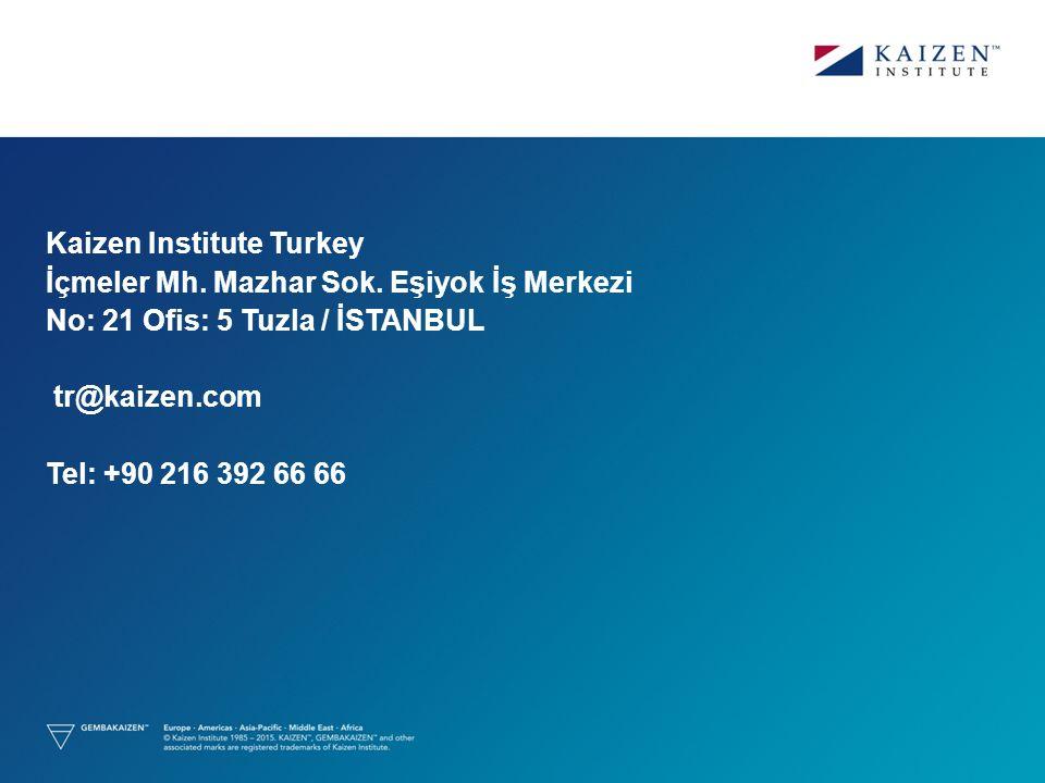 Kaizen Institute Turkey İçmeler Mh. Mazhar Sok