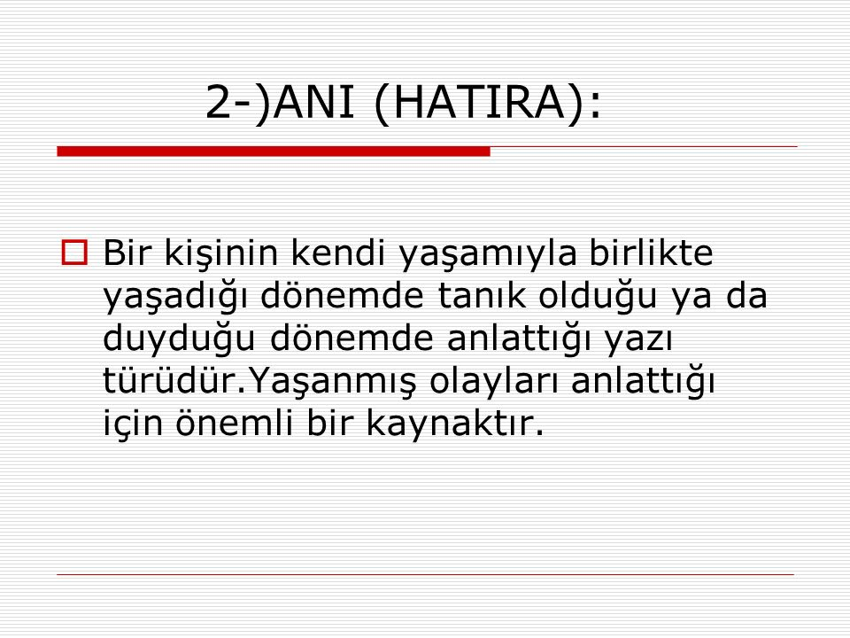 2-)ANI (HATIRA):