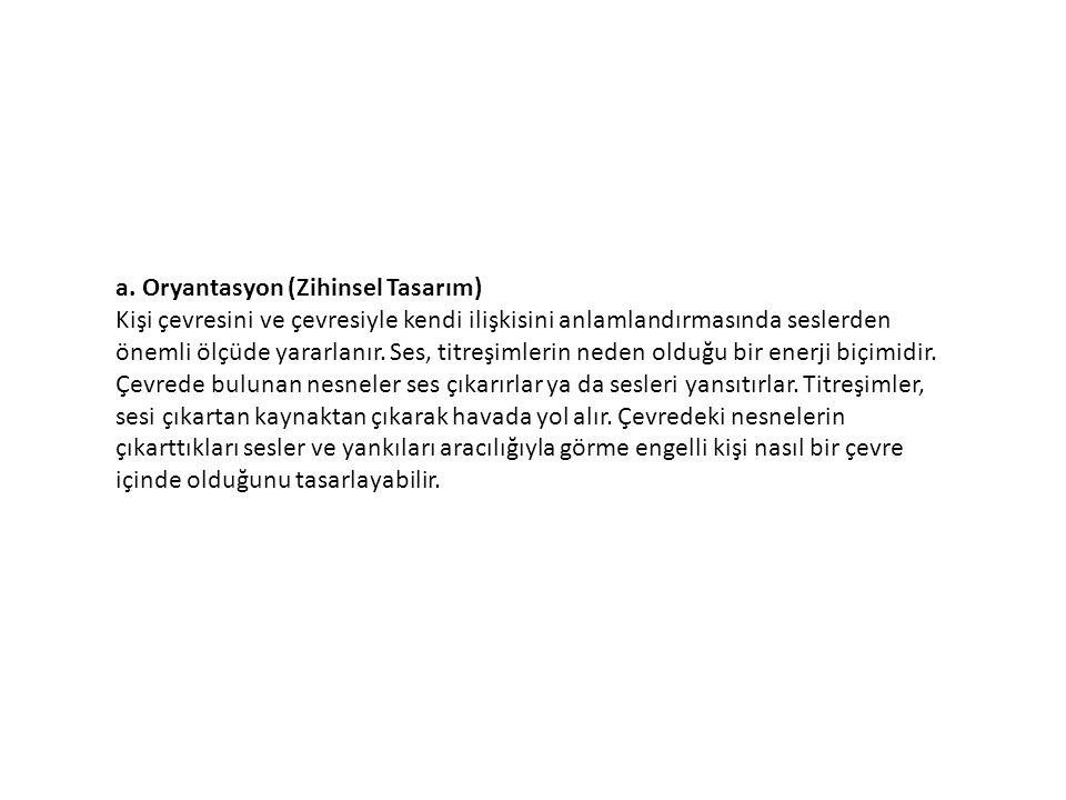 a. Oryantasyon (Zihinsel Tasarım)