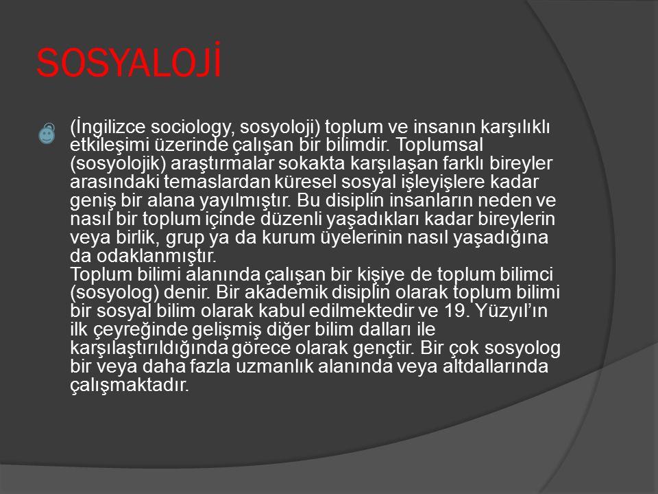 SOSYALOJİ