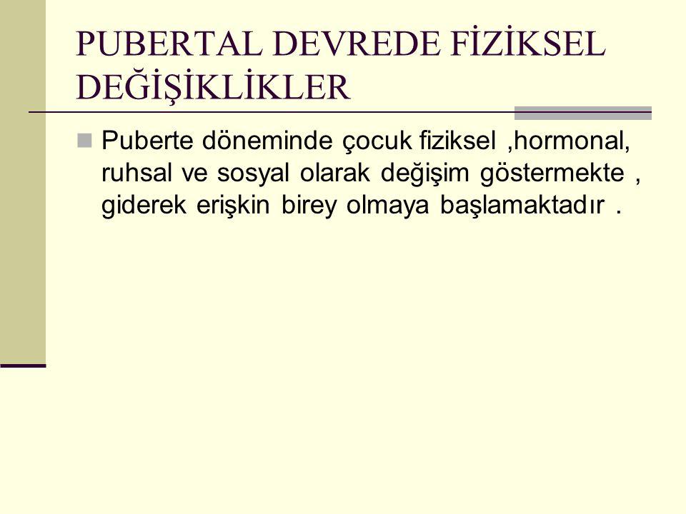 PUBERTAL DEVREDE FİZİKSEL DEĞİŞİKLİKLER