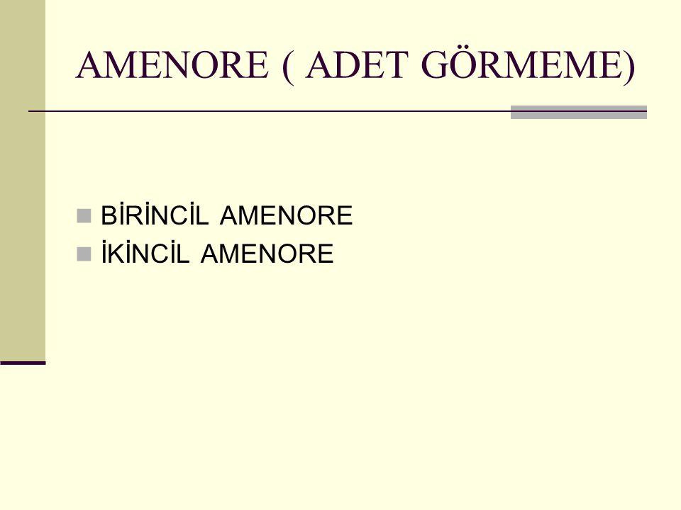 AMENORE ( ADET GÖRMEME)