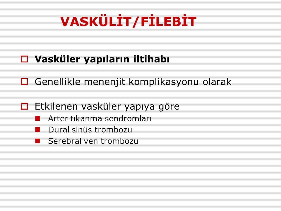 VASKÜLİT/FİLEBİT Vasküler yapıların iltihabı