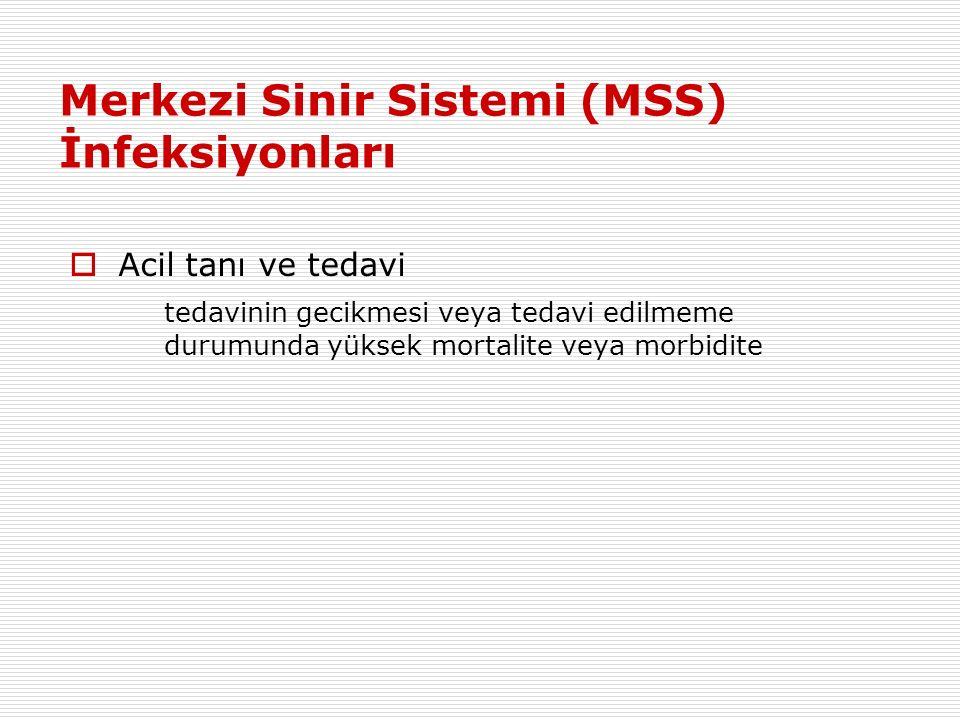 Merkezi Sinir Sistemi (MSS) İnfeksiyonları