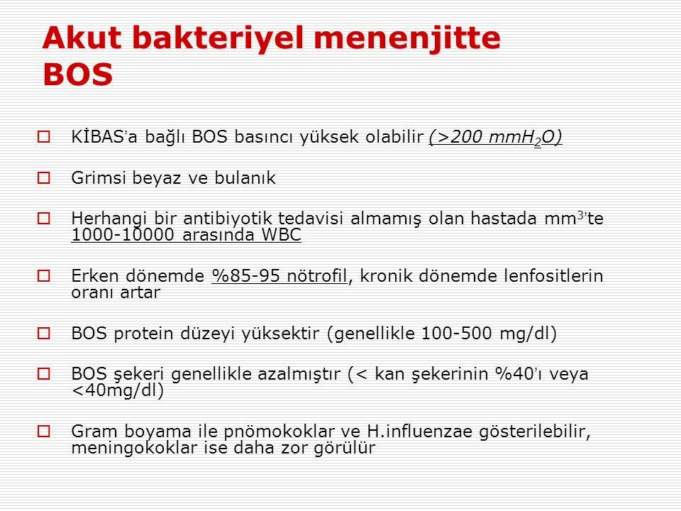 Akut bakteriyel menenjitte BOS