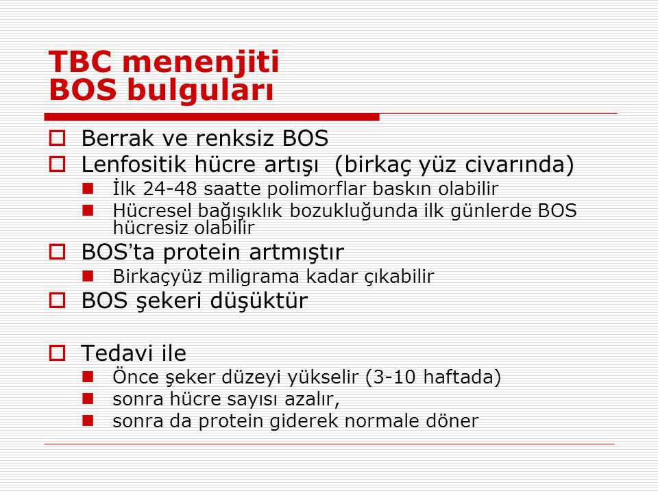 TBC menenjiti BOS bulguları