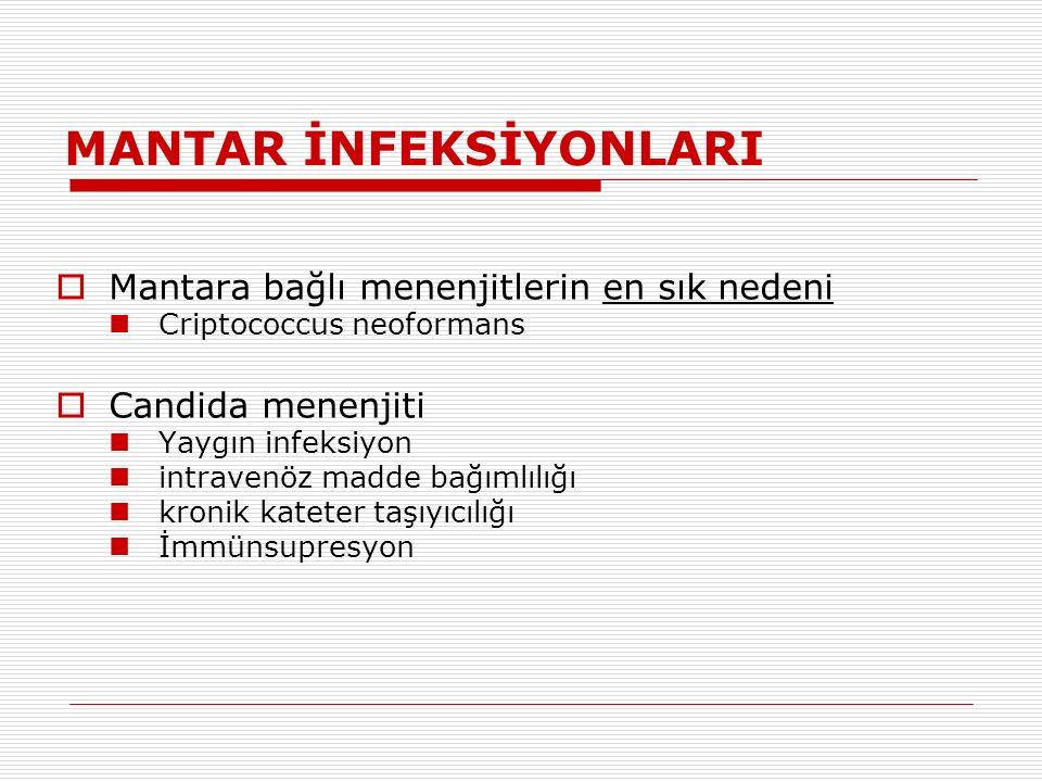 MANTAR İNFEKSİYONLARI