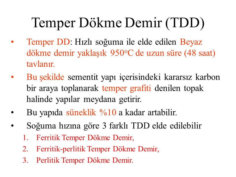 Temper Dökme Demir (TDD)