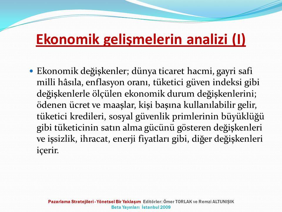 Ekonomik gelişmelerin analizi (I)