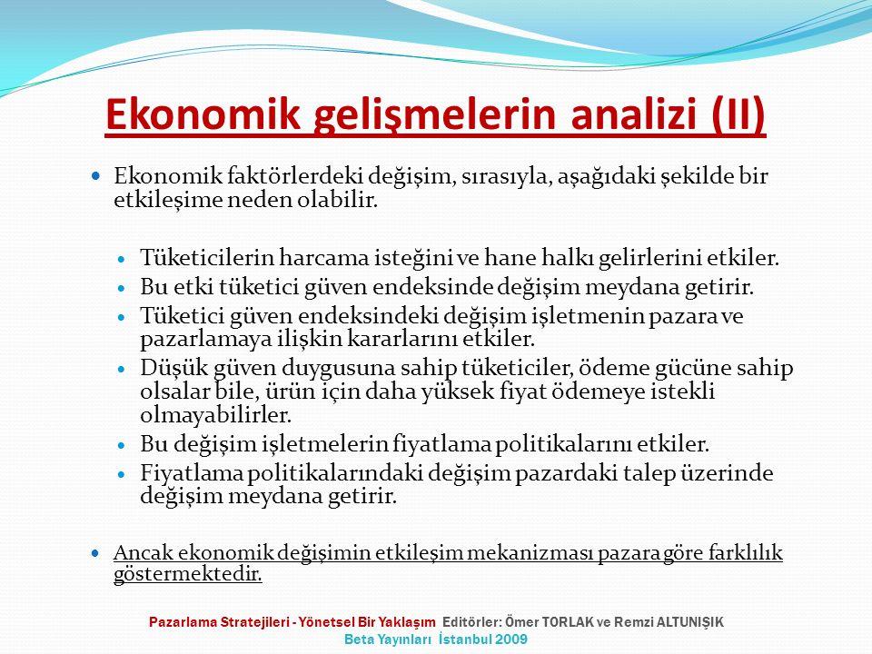 Ekonomik gelişmelerin analizi (II)