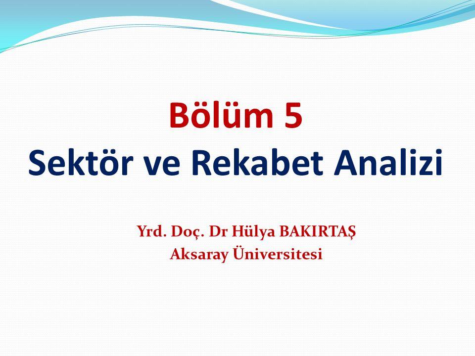 Bölüm 5 Sektör ve Rekabet Analizi